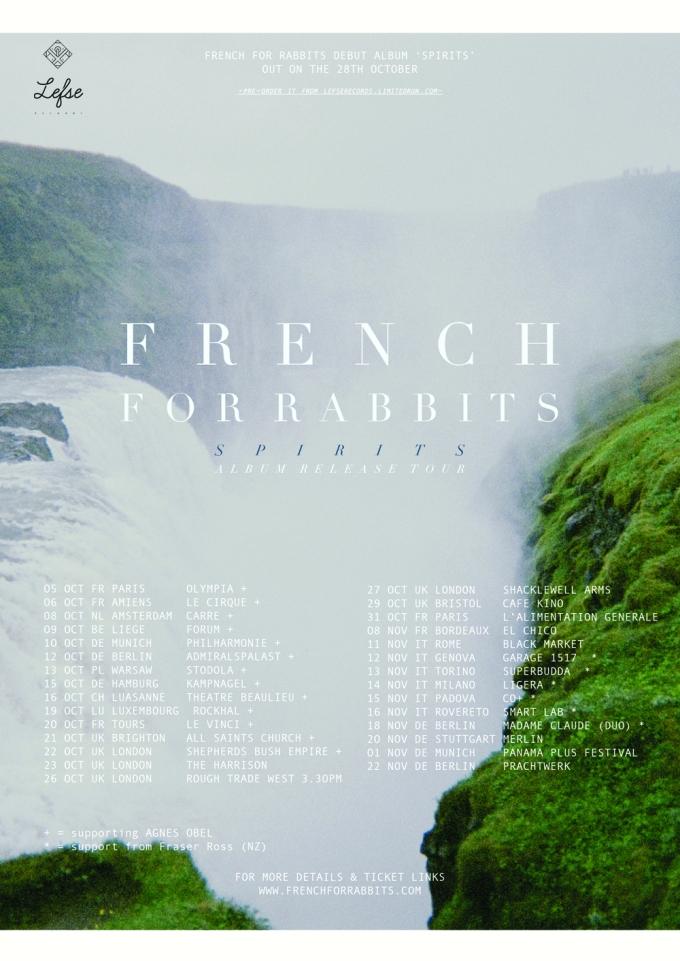 Spirits tour - Oct 5 - Nov 22 2014.